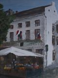 Bistrot at Maastricht by Marco Titucci, Painting, Acrylic on canvas