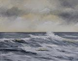 Rude sea by Marco Titucci, Painting, Acrylic on canvas
